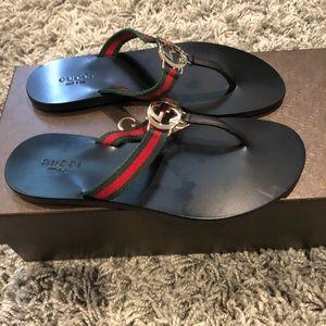 Gucci Shoes - Gucci Flat thong Size 5 Brand NEW!
